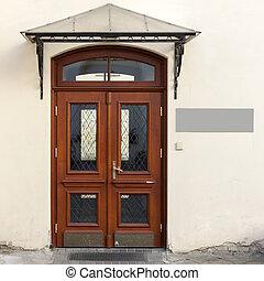 houten, deuren, signage