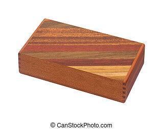 houten doos, witte , vrijstaand