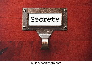 houten, etiket, geheimen, glanzend, dossierkabinet