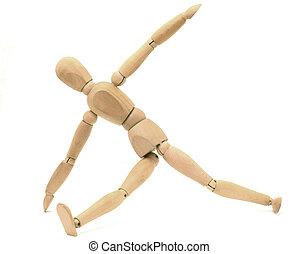 houten, fop, stretching