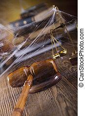 houten gavel, en, wet boeekt