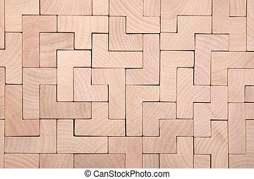 houten, gedaantes, anders, blokjes, achtergrond