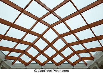 houten, glas plafond
