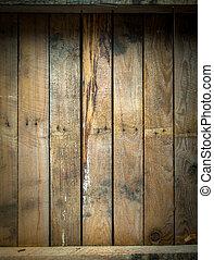 houten, grungy, bevlekte, verweerd, tafel