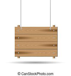 houten, hangend teken