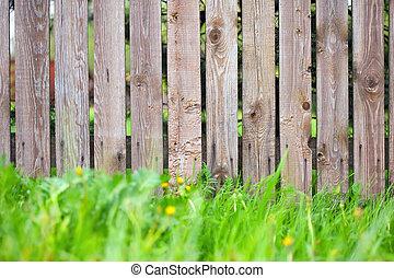 houten hek, achtergrond