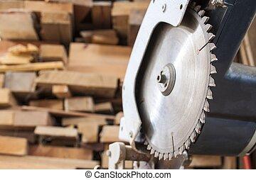 houten, holle weg, achtergrond, samengesteld, bewerken zaag...