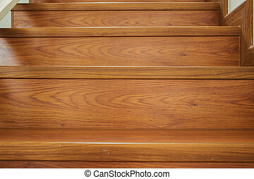 houten huis, interieur, moderne, trap