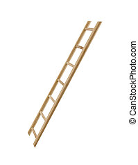 houten, isolated., ladder