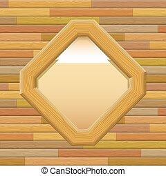 houten kader, muur