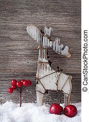 houten, kerstmis, hertje