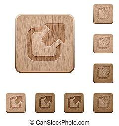 houten, knopen, export