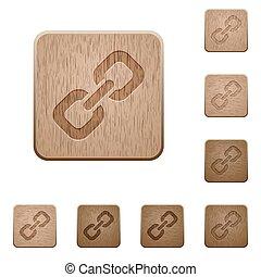 houten, knopen, schakel
