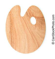 houten, kunst, palet