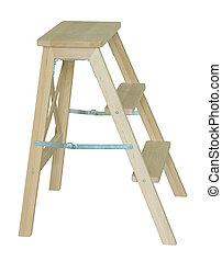 houten ladder, witte , vrijstaand
