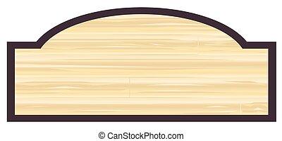 houten, leeg, opslagteken
