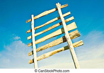 houten, leeg teken