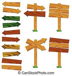 houten, meldingsbord, illustratie