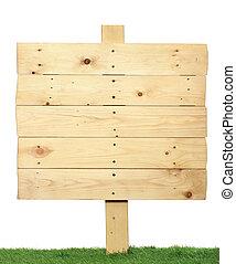 houten, meldingsbord