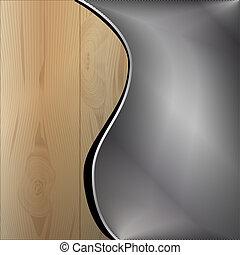 houten, metaal, achtergrond