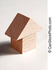 houten model, van, woning
