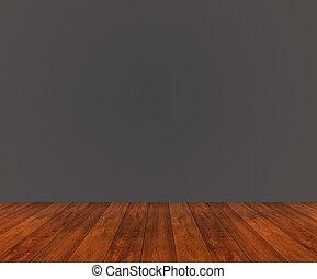 houten muur, black , vloer