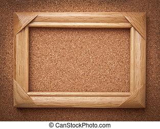 houten muur, frame