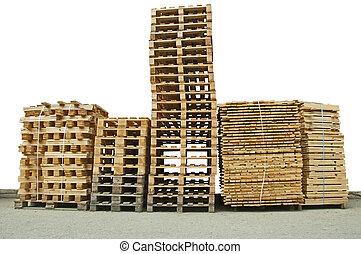 houten, nieuw, opperen, pallets
