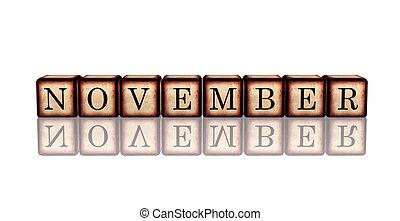 houten, november, blokje, 3d