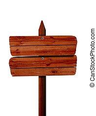 houten, ondertekenen plank