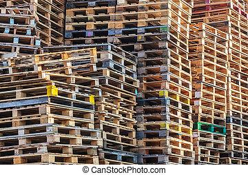 houten, opperen, pallets, eurobiljet