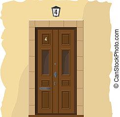houten, oud, deur