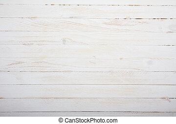 houten, ouderwetse , bovenzijde, achtergrond, tafel, witte , aanzicht