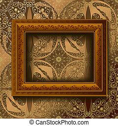 houten, ouderwetse , frame