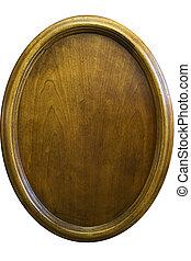 houten, ovaal, vernier