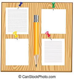 houten, papier, blad, plank