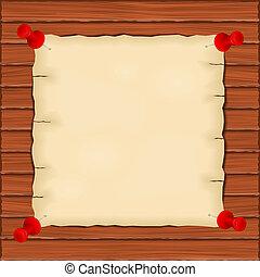 houten, papier, oud, achtergrond