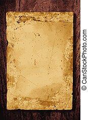 houten, papier, oud, plank