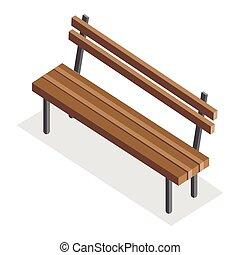 houten, parkeer bank