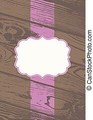houten, pastel, frame, vector, achtergrond
