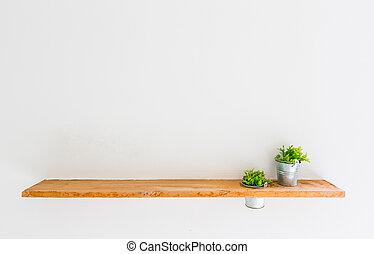 Plank Voor Lijstjes.Plant Houten Plank Lijstjes Boekjes Foto Plant