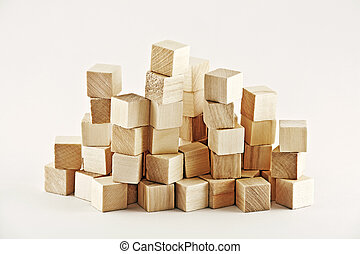houten, plein, blokjes