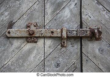 houten, poort, abstract