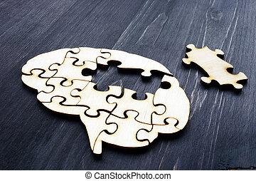 houten, problemen, puzzles., memory., geestelijke gezondheid, hersenen
