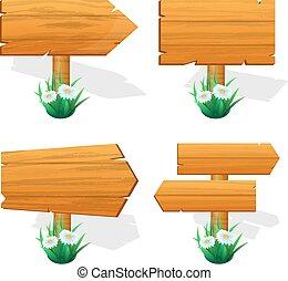 houten raad, meldingsbord