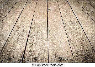 houten raad, textuur, vloer