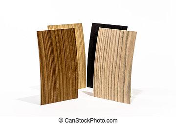 houten, set, dekking, types