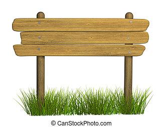 houten, signboard, van, drie, raad