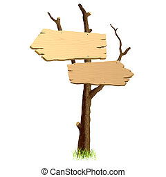 houten, signboard