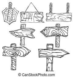 houten, signpos
